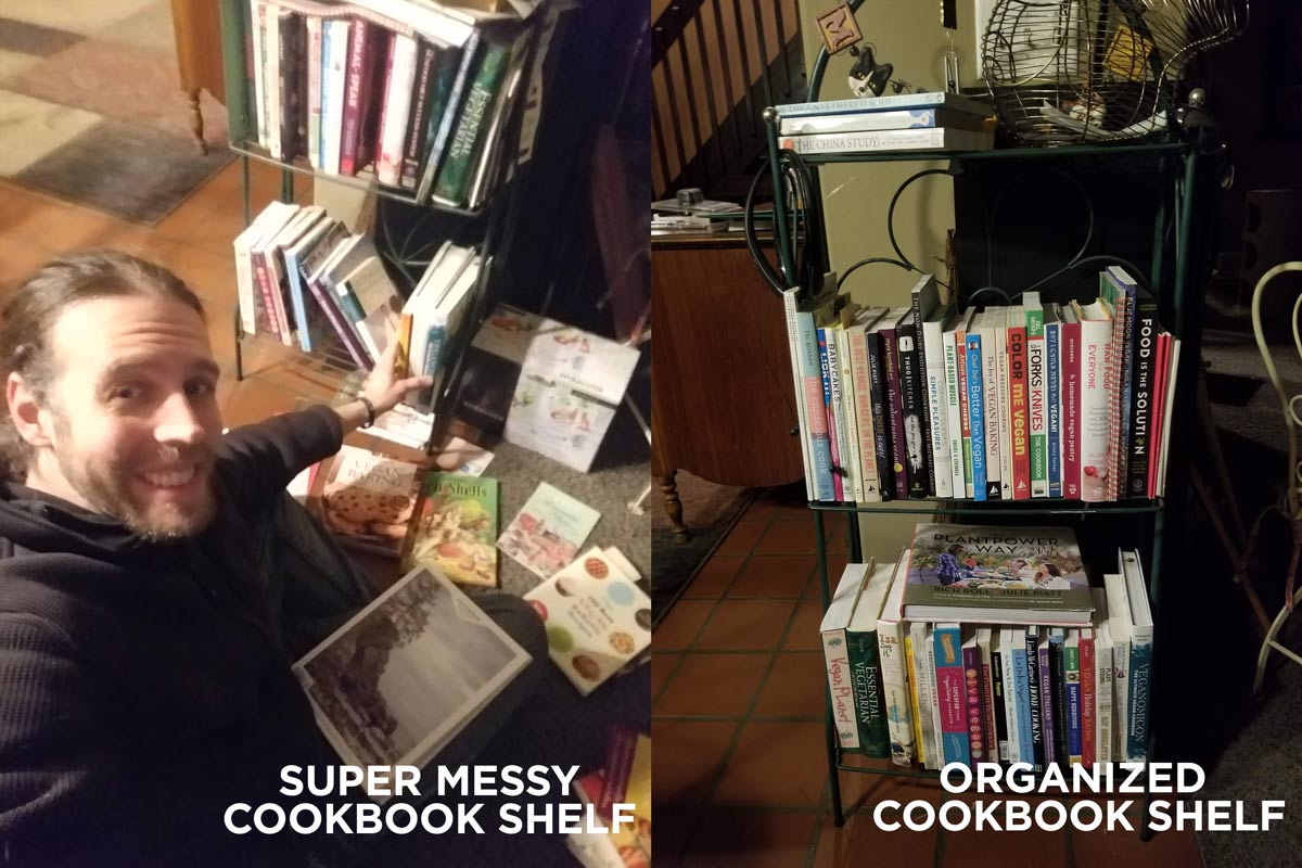 social-media-detox-organized-bookshelf---plant-powered-prophet